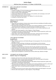 Civil Engineer Resume Sample Civil Project Engineer Resume Samples Velvet Jobs 14