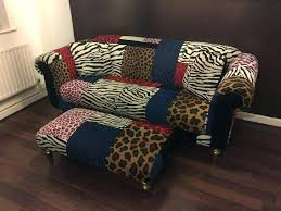 zebra slipcover zebra print couches animal sofa with foot stool for table zebra print wingback chair