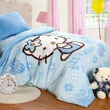 kitty bedroom decorating ideas soft blue hello kitty bedding set for comfortable hello kitty bedroom