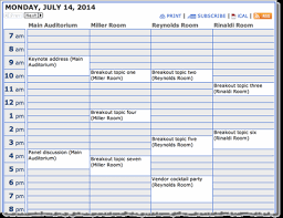 Schedule Calender Trumba Help Conference Schedule Calendar View