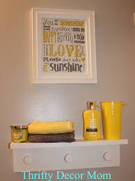 Framed Art Bathroom She Found The Subway Art Online And Framed It Grey And Yellow