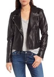 michael michael kors buckle detail leather moto jacket