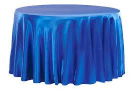 satin 120 round tablecloth royal blue