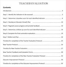 New Employee Evaluation Template Teaching Evaluation Form Template