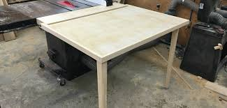 building an out feed table for a table saw