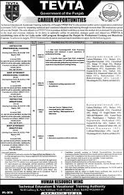 technical education vocational training authority tevta jobs technical education vocational training authority tevta jobs