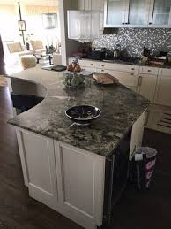 naperville il kitchen cabinets and granite countertop with metal inserts and sink matching drop in