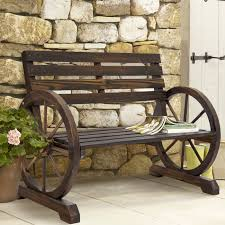 rustic wooden outdoor furniture. Rustic Wood Patio Furniture. Best Choice Products BCP Garden Wooden Wagon Wheel Bench Outdoor Furniture T