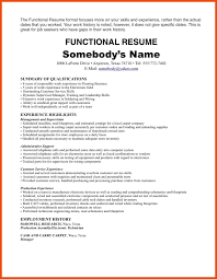 Functional Resume 100100 Sample Resume With One Job Experience Formatmemo 61