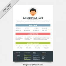 simple resume website simple resume template in color vector free download