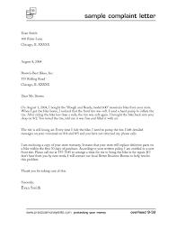 Formal Letters Of Complaint Business Letter Template Complaint New Business Letter Format Plaint