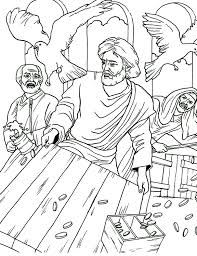 Small Picture Jesus Cleansing the Temple Coloring Page