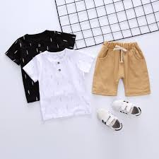 Baby <b>Boys</b> Clothing Sets <b>2019 Summer Boy</b> Clothes Casual <b>T</b> shirt + ...
