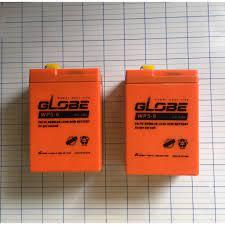 Ắc quy khô GLOBE 6v 5ah dùng cho quạt sạc , đèn sạc