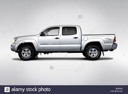 2010 Toyota Tacoma V6 in Silver - Drivers Side Profile Stock Photo ...