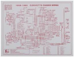 corvette chassis wiring harness diagram 1958 1960 laminated