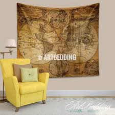 vintage orld map wall tapestry historical world hanging new world map wall hanging