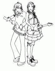 Small Picture Hello Kitty Playing Guitar Coloring Page Kids Colouring Pages