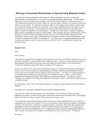 How To Write A Sponsorship Letter Gplusnick