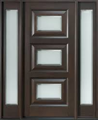 Decorating wood front entry doors with sidelights images : Modern Front Door, Design: Single with 2 Sidelites, Solid Mahogany ...