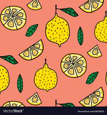 Fruit Pattern Unique Lemon Fruit Pattern Background Royalty Free Vector Image