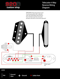 Four Way Switch Wiring Diagram Telecaster Tele HH 4 -Way Wire Diagram