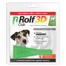 Ekoprom / <b>Rolf Club 3D</b> Spot-on against ticks and fleas for dogs 4 ...