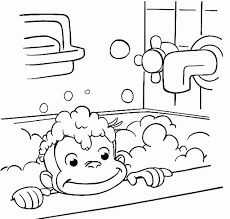 76725 Curious George Eating Banana At Curious George Coloring Pages
