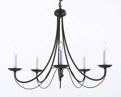 living amazing rustic wrought iron chandelier 2 tiered black round