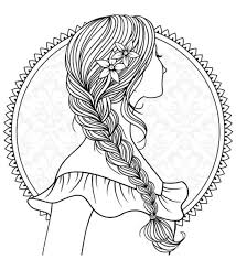 Girl With Plaited Hair To Colour Recolor App Color Me Crazy