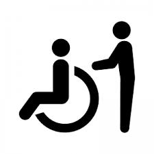 車椅子の介護のシルエット02 無料のaipng白黒シルエットイラスト