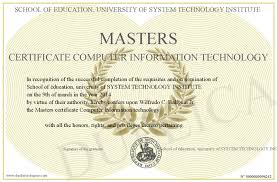 computer tech degree masters certificate computer information technology