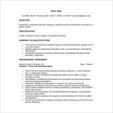 Elementary Tutor Resume Free PDF Template