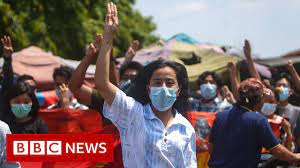 100 days on from the coup in Myanmar - BBC News - YouTube