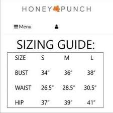 Honey Punch Size Chart Honey Punch Striped Crop Top Nwt