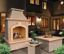 innovative ideas outdoor fireplace propane convenient in summer evenings