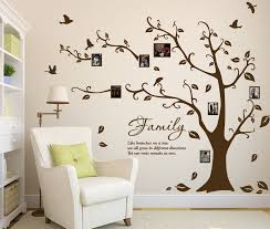 decal vinyl wall decals large family photo tree and birds art vinyl wall sticker diy wall