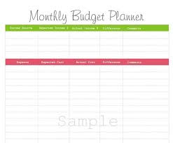Free Printable Monthly Budget Planner Template Walach Info