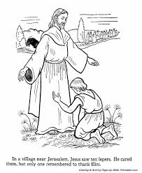 Jesus Teaches Coloring Pages Jesus Heals The 10 Lepers Bible