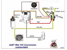help with a jmor wiring diagram for a jubilee ford 9n, 2n, 8n 12 Volt Solenoid Wiring Diagram i have to jump from the battery side to the side of the starter solenoid where he shows the white wire then the tractor starts 12 volt starter solenoid wiring diagram