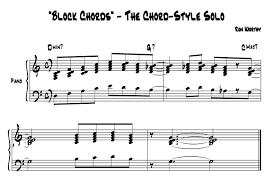 Jazz Piano Chords Pdf Mobilia