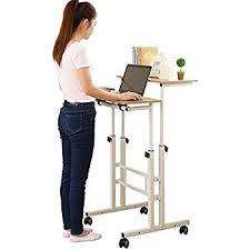 standing office table. sdadi 2 inches carpet wheel mobile stand up desk height adjustable home office with standing table