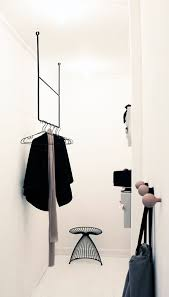 Black Steel Hanging Clothing Racks