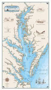 Chesapeake Bay Maps Charts Details About Original Chesapeake Bay Chart Paper Nautical Art Print Map