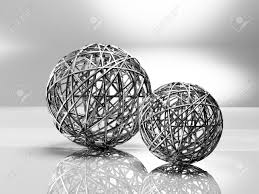 Decorative Metal Balls Decorative Metal Balls 100d Rendering Stock Photo Picture And 2