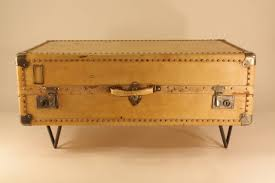 Antique Parchment Suitcase Coffee Table 2