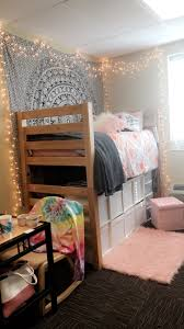 Wingate University | dorm room | CM Black | pink | white | lights | loft