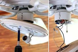 change light fixture to ceiling fan install a ceiling fan with light plug in ceiling light