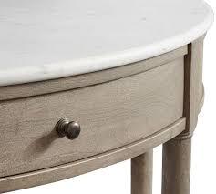 alexandra 48 demilune marble console