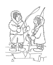 Kinderpleinen Eskimo Iglo Kleurplaten Az Ausmalbilder